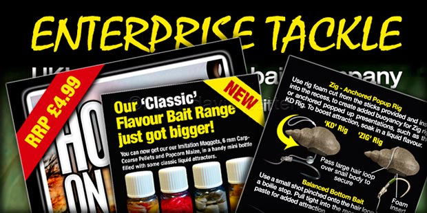 Enterprise Tackle -packaging artwork promotional ads