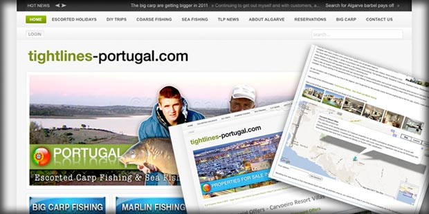 Tightlines-Portugal website