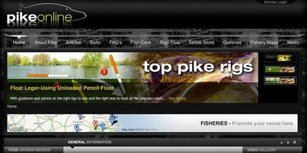 Pike Online - CMS based pike fishing information site