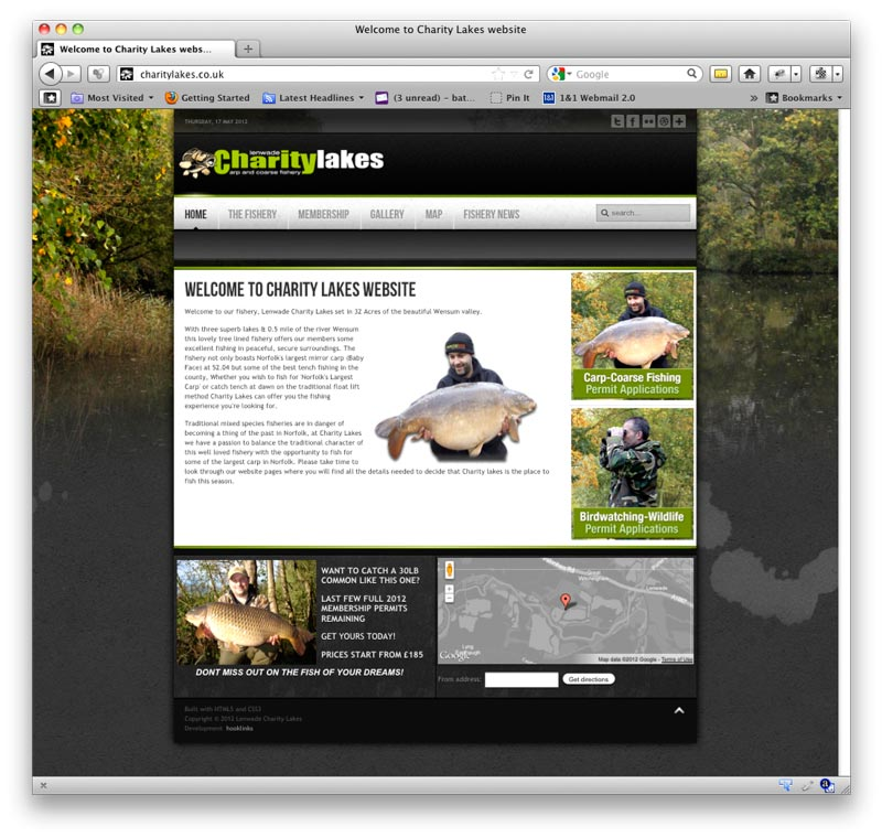 Lenwade Charity Lakes Website
