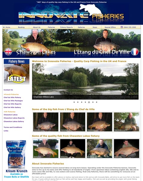 Innovate Fisheries Website