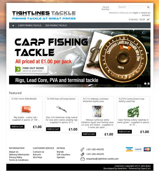 Tightlines Tackle Website